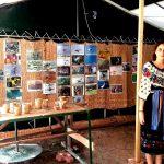 Parte din Expozitia Foto cu Biodiversitate (in fata se afla si Roata Olarului si razboiul de tesut - doua din activitatile traditionale ale Zonei Snagov)