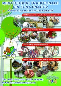 Meșteșuguri tradiționale - în zona Snagov. Adaptate pentru a fi și activități - ateliere pentru diferite grupe de vârstă